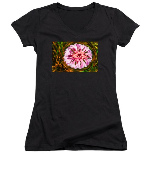 Floating In Time Women's V-Neck (Athletic Fit)