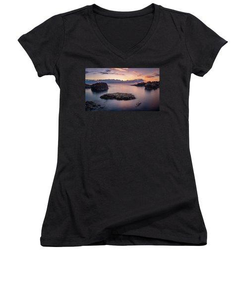 Floating Rocks Women's V-Neck T-Shirt