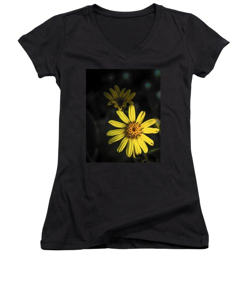 Flora In Yellow Women's V-Neck