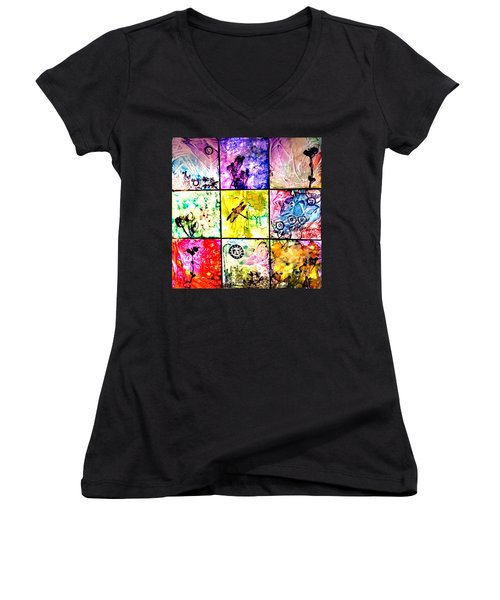 Floral Frenzy Women's V-Neck (Athletic Fit)