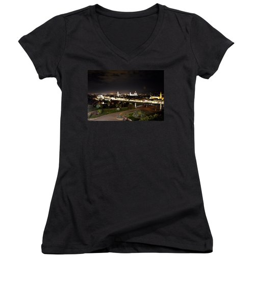 Florence At Night Women's V-Neck