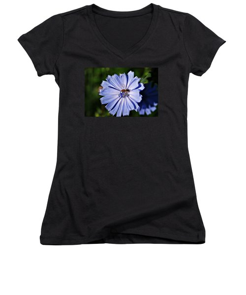 Flower And Bee 2 Women's V-Neck (Athletic Fit)