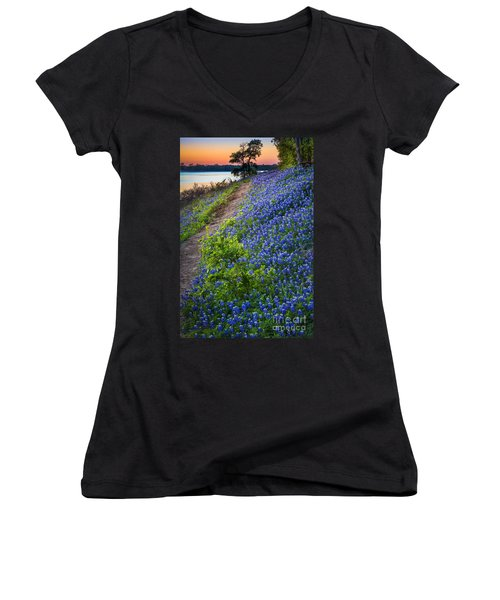 Flower Mound Women's V-Neck