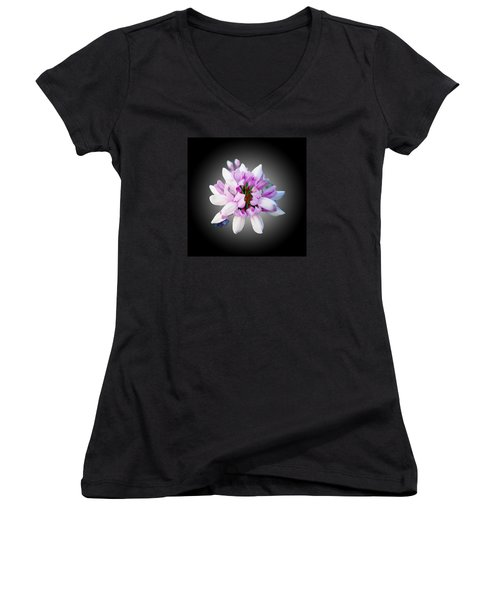 Flower  Securigera Varia Women's V-Neck T-Shirt (Junior Cut) by Mike Breau