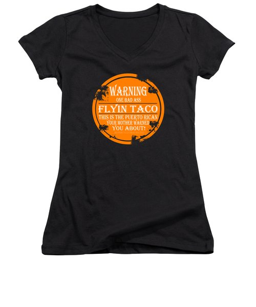 Flyin Taco Women's V-Neck T-Shirt