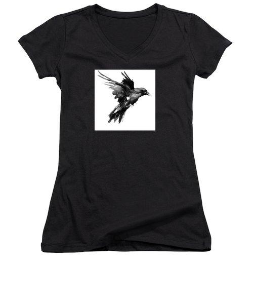 Flying Raven Women's V-Neck (Athletic Fit)