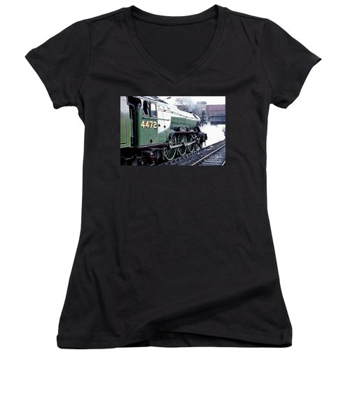 Flying Scotsman Locomotive Women's V-Neck