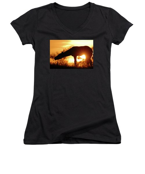 Foal Silhouette Women's V-Neck (Athletic Fit)