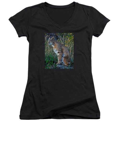 Focused On The Hunt 2 Women's V-Neck (Athletic Fit)