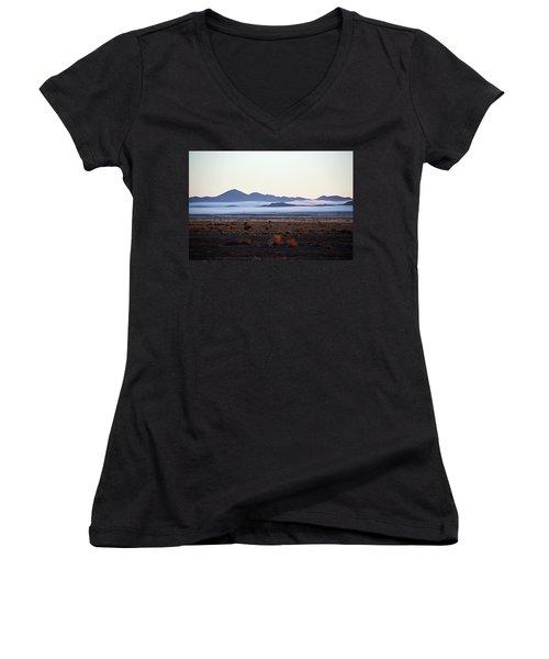 Fog In The Peloncillo Mountains Women's V-Neck T-Shirt