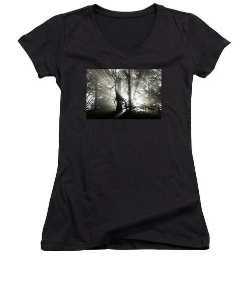 Foggy Flares Women's V-Neck (Athletic Fit)