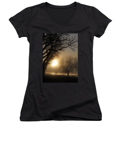 Foggy Morn Women's V-Neck