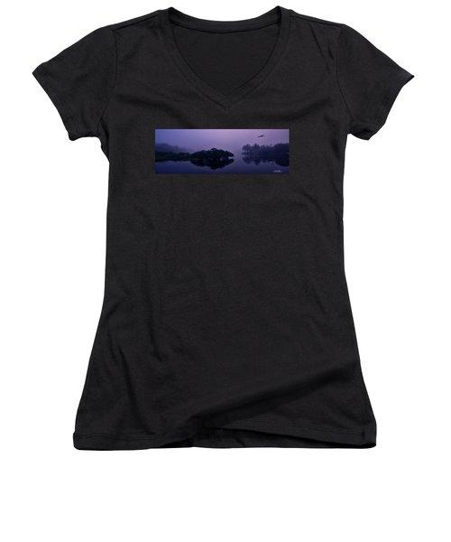 Foggy Morning Women's V-Neck T-Shirt
