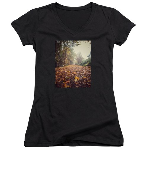 Foggy Morning Women's V-Neck (Athletic Fit)