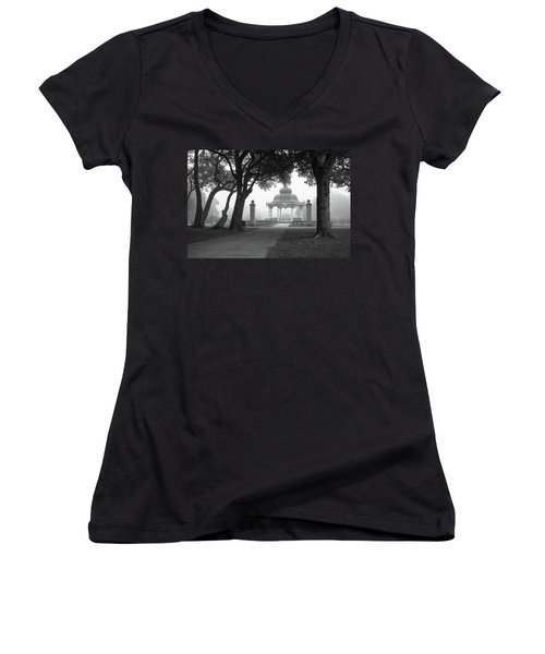 Foggy Tower Grove Women's V-Neck (Athletic Fit)