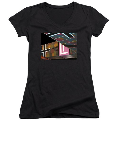 Fokker D Vii Women's V-Neck T-Shirt (Junior Cut) by Dave Mills