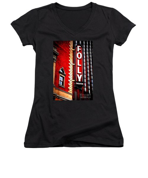 Folly Theater Women's V-Neck T-Shirt