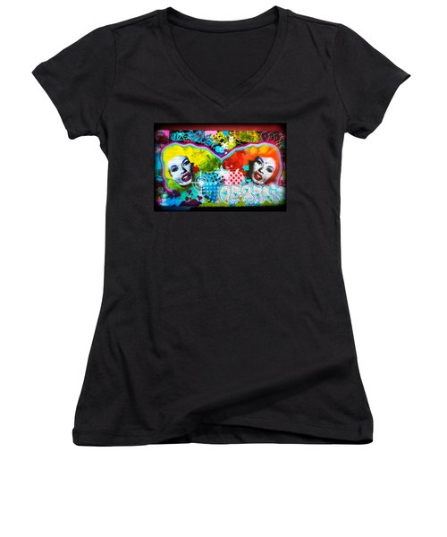 For The Love Of Jane Women's V-Neck T-Shirt (Junior Cut) by Colleen Kammerer