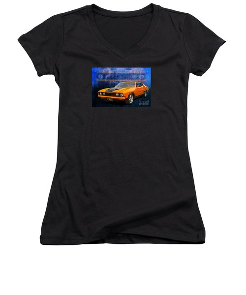Ford Falcon Xb 351 Gt Coupe Women's V-Neck T-Shirt