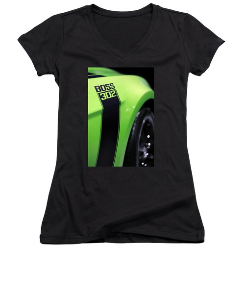 Ford Mustang - Boss 302 Women's V-Neck (Athletic Fit)