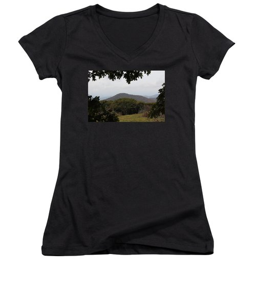 Forest Dark Space Women's V-Neck T-Shirt