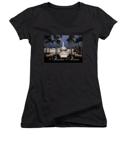 Forever Families Women's V-Neck T-Shirt