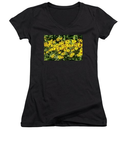 Women's V-Neck T-Shirt (Junior Cut) featuring the digital art Forever Susan by Barbara S Nickerson