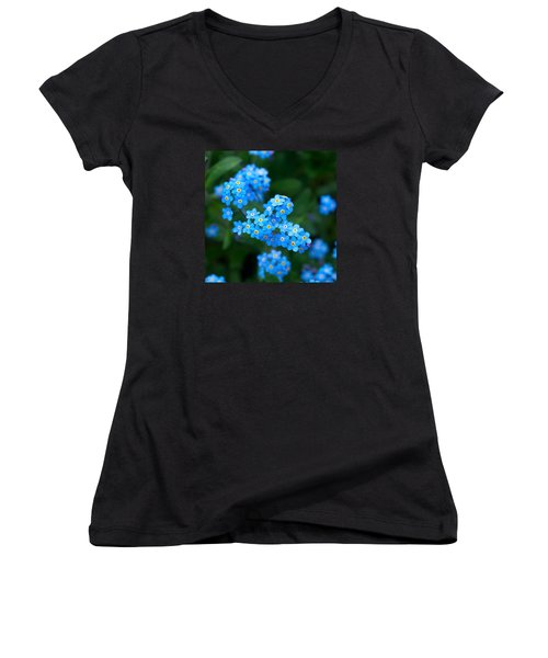 Forget -me-not 5 Women's V-Neck (Athletic Fit)