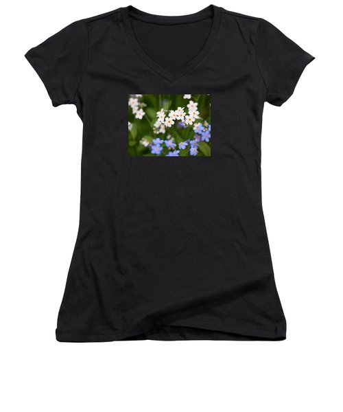 Forget Me Nots Women's V-Neck (Athletic Fit)