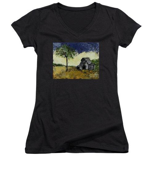 Forgotten Yesterday Women's V-Neck T-Shirt (Junior Cut) by Kirsten Reed