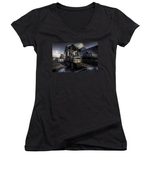 Forklift Women's V-Neck T-Shirt