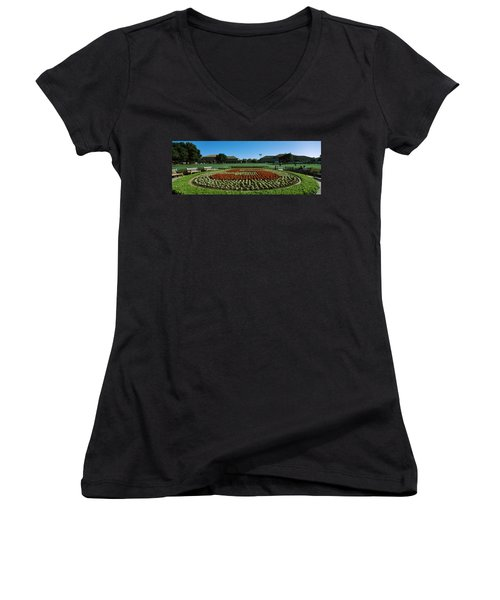 Formal Garden At The University Campus Women's V-Neck (Athletic Fit)
