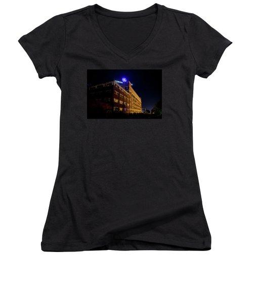 Fort Wayne In Ge Building - Jpmmedia.com Women's V-Neck T-Shirt