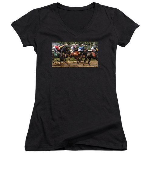 Forty Mph Women's V-Neck (Athletic Fit)
