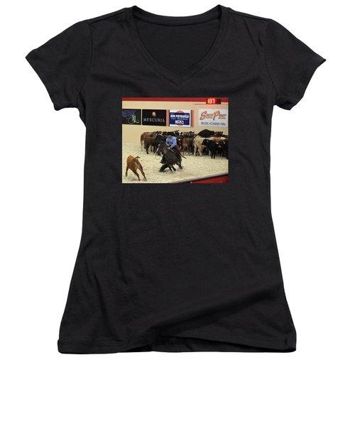 4 Important Factors Women's V-Neck T-Shirt (Junior Cut) by John Glass
