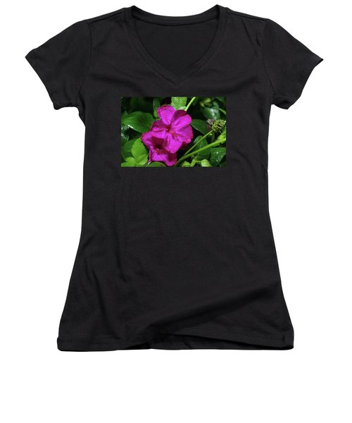 Women's V-Neck T-Shirt (Junior Cut) featuring the photograph Four O'clock At 9am  by Richard Rizzo