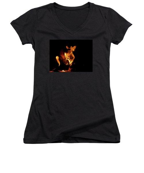 Fox Fire Women's V-Neck T-Shirt