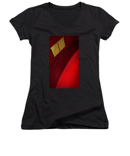 Women's V-Neck T-Shirt (Junior Cut) featuring the photograph Foxy by Skip Hunt