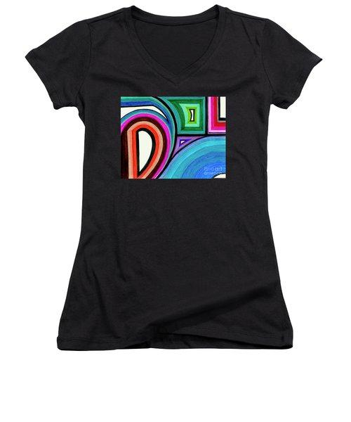 Framed Motion Women's V-Neck T-Shirt
