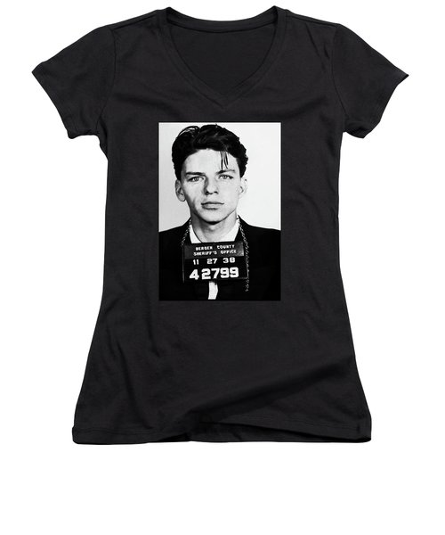 Frank Sinatra Mugshot Women's V-Neck