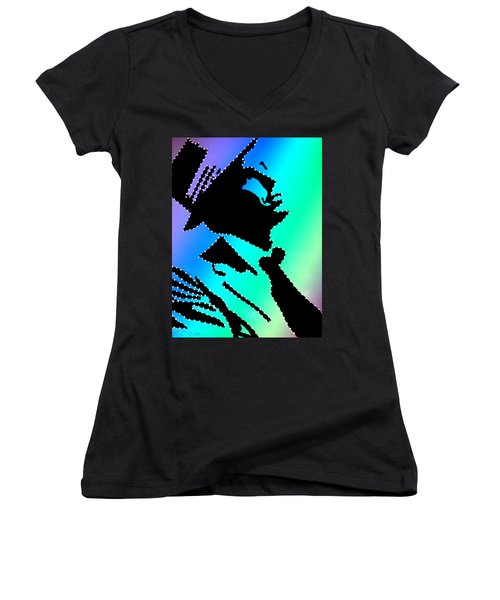 Frank Sinatra Over The Rainbow Women's V-Neck (Athletic Fit)