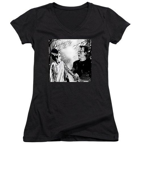 Frankenstein Women's V-Neck T-Shirt