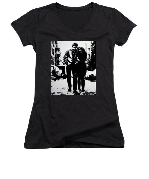 Freewheelin Women's V-Neck T-Shirt