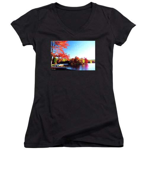 French Creek Fall 020 Women's V-Neck (Athletic Fit)