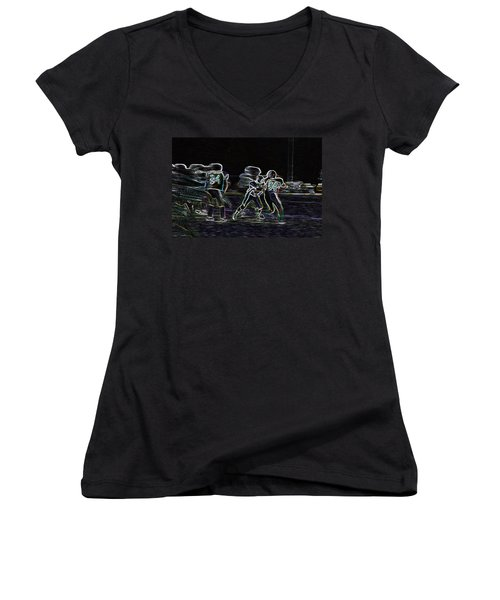 Friday Night Under The Lights Women's V-Neck (Athletic Fit)