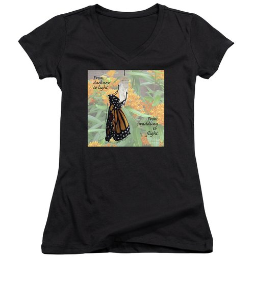 From Darkness To Light Women's V-Neck