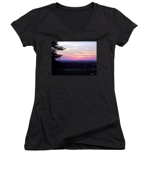 Women's V-Neck T-Shirt (Junior Cut) featuring the photograph From Here To Eternity by Betty Northcutt