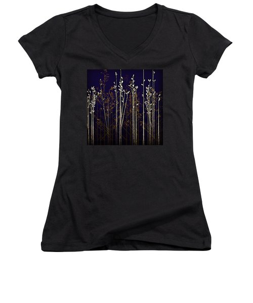 From The Grass We Creep Women's V-Neck T-Shirt (Junior Cut) by Nick Heap