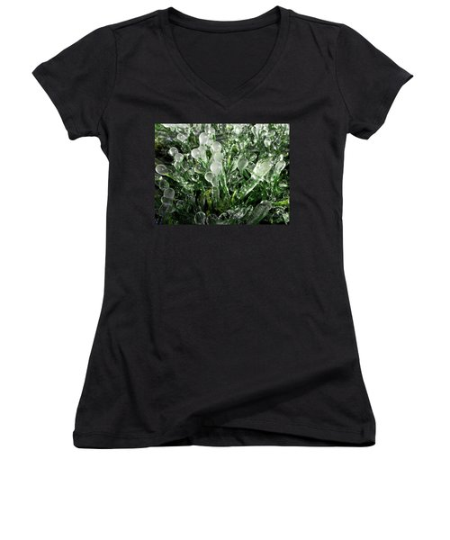 Frosted Grass Women's V-Neck (Athletic Fit)