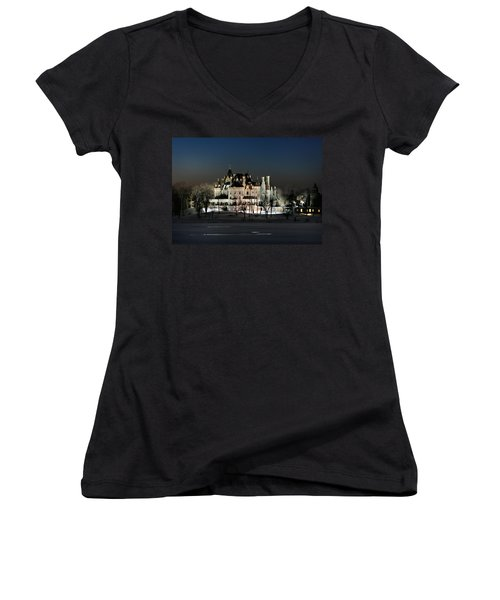 Frozen Boldt Castle Women's V-Neck (Athletic Fit)